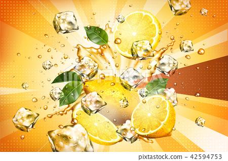 Dynamic splashing juice 42594753