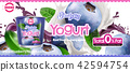 Blueberry yogurt ad 42594754