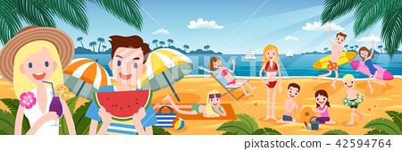 Tropical beach party 42594764