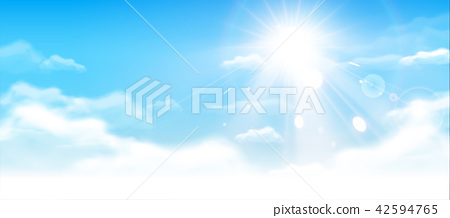 Blue sky with clouds 42594765