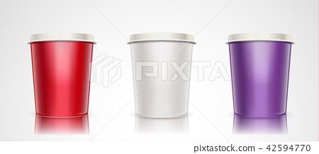 Paper cup mockup set 42594770
