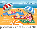 Hot summer vacation 42594781