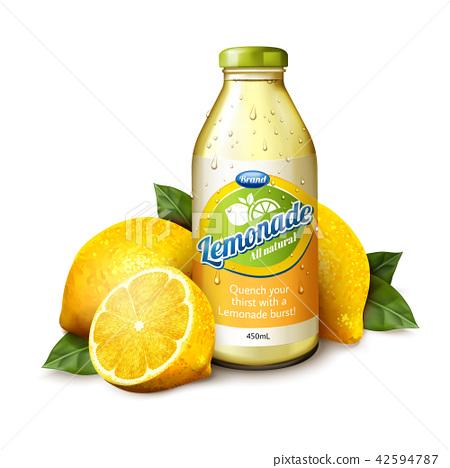 Natural lemonade juice 42594787