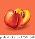 Peach on pink background 42596848