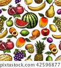 fruit, sketch, agriculture 42596877