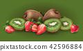 奇异果 草莓 矢量 42596884