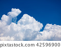 푸른 하늘과 적란운 a-3 42596900