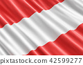 Austrian flag background, 3D rendering 42599277