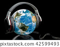 Earth Globe with wireless headphones 42599493