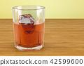 glass, whiskey, ice 42599600