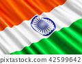 Indian flag background, 3D rendering 42599642