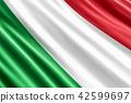 Italian flag background, 3D rendering 42599697