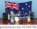 Music, rock bands from Australia concept 42599766