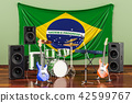 Music, rock bands from Brazil concept 42599767