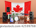 Music, rock bands from Canada concept 42599768