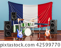 Music, rock bands from France concept 42599770
