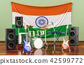 Music, rock bands from India concept, 3D rendering 42599772