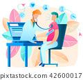 Online Doctor. Telemedicine. Vector Illustration. 42600017