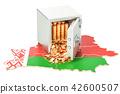 Belarus, flag, map 42600507