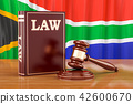 South Africa law and justice concept, 3D rendering 42600670