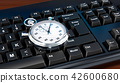Stopwatch on computer keyboard concept 42600680