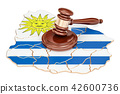 gavel, Uruguay, flag 42600736