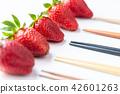 水果 草莓 筷子 42601263