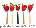 水果 草莓 筷子 42601271