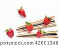 水果 草莓 筷子 42601348