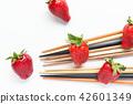水果 草莓 筷子 42601349