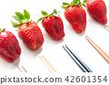 水果 草莓 筷子 42601354
