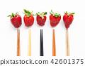 水果 草莓 筷子 42601375