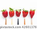 水果 草莓 筷子 42601376
