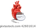 Artificial cardiac pacemaker with human heart 42601614