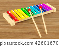 Colored Xylophone on the wooden table 42601670