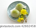 green tea mochi, wagashi, japanese confectionery 42602458
