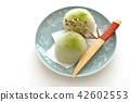 green tea mochi, wagashi, japanese confectionery 42602553