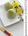green tea mochi, wagashi, japanese confectionery 42602554
