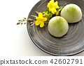 green tea mochi, wagashi, japanese confectionery 42602791