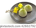 green tea mochi, wagashi, japanese confectionery 42602792