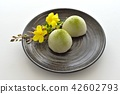 green tea mochi, wagashi, japanese confectionery 42602793