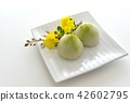 green tea mochi, wagashi, japanese confectionery 42602795
