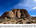 奇怪的岩石在約書亞樹國家公園,美國 42603078