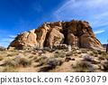 奇怪的岩石在約書亞樹國家公園,美國 42603079