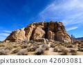 奇怪的岩石在約書亞樹國家公園,美國 42603081