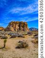 約書亞樹國家公園的岩層在美國HDR圖像垂直的構成 42603086