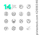 Zodiac signs - set of line design style icons 42606346