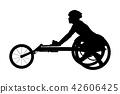 wheelchair racer athlete 42606425