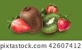 奇异果 草莓 矢量 42607412