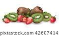 奇异果 草莓 矢量 42607414